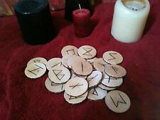 wood burned runes Norse Elder Futhark divination set