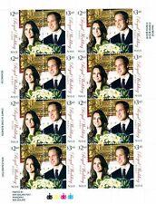 Niue Scott # 864 Royal Wedding 2011 Uncut Stamp Sheet MNH