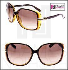 5a30e6f83a GUCCI GG3211FS Square Sunglasses Brown Honey Translucent Gold Special Fit  3211