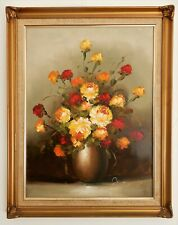 Original still life Oil Painting of Roses. signed Joyce, framed, Vintage flowers