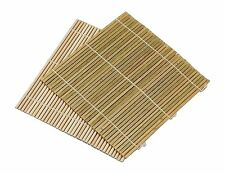 SET OF 6 Bamboo Sushi Roller Mat California Roll 9.5 inch Square