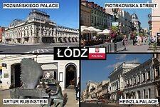 SOUVENIR FRIDGE MAGNET of LODZ ŁÓDŹ POLAND POLSKA