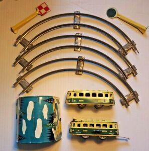 JOUSTRA . TRAIN AUTORAIL MECANIQUE COMPLET + 5 rails