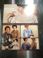 New listing Smocking Techniques Workbook Series 1 Nellie Durand 8 Lessons 1980 26 Pages