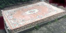 Large Chinese wash floral floor rug