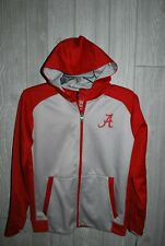 University Of Alabama Boys Red/Gray Polyester Full Zip Hoodie Size M(10/12) NEW