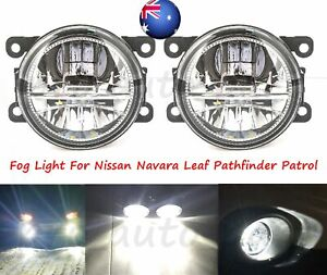Pair LED Fog Light Lamps For Nissan Navara Leaf Pathfinder Patrol Frontier NP300