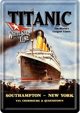 Nostalgic tipo titanic White Star Line Crew Steamship southampton chapa tarjeta postal
