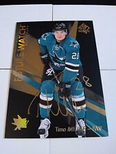Timo Meier 2016-17 SP Authentic Future Watch Gold Ink Auto Sharks