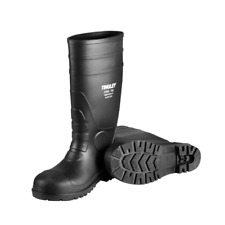 Rubber Kneed Boots Agriculture Safe Black Pvc 15in Mens Size 12 Waterproof