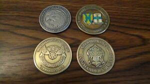 Lot of 4 Military Challenge Coins