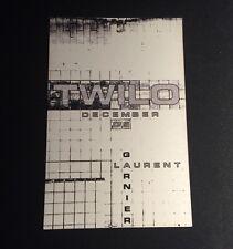 Rare Vintage 1990s NYC Club Flyer: LAURENT GARNIER w/ David Hollands @ TWILO NYC