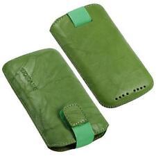 Para Sony Ericsson Xperia Arc S móvil funda de cuero auténtico/case/estuche/funda verde