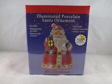 Mr. Christmas Illuminated Porcelain Ornament - New - Santa Claus