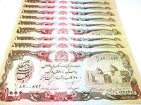 Afghanistan , Afghani Money 10 PCS Set 1000 Afghani Each