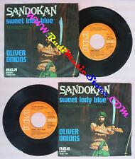 LP 45 7'' OLIVER ONIONS Sandokan Sweet lady blue 1976 germany RCA cd mc dvd (*)