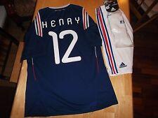 Kit completo de Francia Camiseta de fútbol Copa del Mundo 2010 Thierry Henry Arsenal Grande Barca