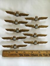 """United Airlines Plastic Pilot Flight Attendant Wings Pin 3-1/2"""" Jr. Collectable"""