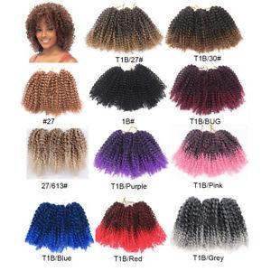 "8"" 12"" Mali BOB Curly Twist Braids Crochet Afro Braid Synthetic Hair Extensions"