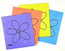 SKOY™Cloth Earth Friendly 100% Biodegradable/Natural 4 Pk Flower Print