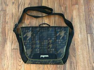 Jansport Houndstooth Messenger Bag Shoulder Laptop Computer Case Office Padded