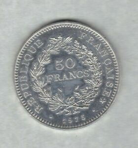 FRANCE 1975 SILVER 50 FRANCS IN NEAR MINT CONDITION