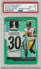2017 Panini Prizm James Conner Rookie Introductions Green Prizm PSA 8 Highest