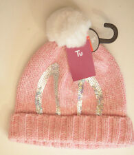 Tu Pink woolly hat for 3-6 year old with pom pom