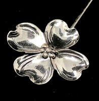 Vintage Sterling Silver Brooch Pin 925 Hat Stick Dogwood Flower Beau Signed