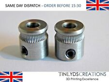 2 x mk7 Extruder hobbed Drive Gear Pulley 5mm ctc 3D Printer part