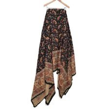 Vintage 70s India Brown Textile Fabric Skirt Top