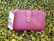 The SAK Women Silverlake Medium Wallet Violet Aztec Embossed