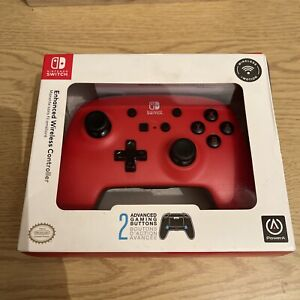 POWERA Nintendo Switch Enhanced Wireless Controller - Red & Black - SEALED