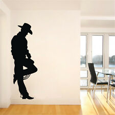 Black Cowboy Wild West Frontier Western Cowboy John Wayne Wall Decal Vinyl Decor
