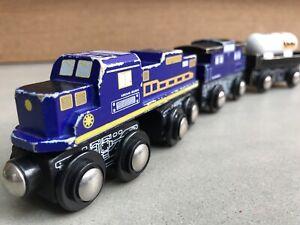 "JRSG 3-Car Wooden Train, by Toys ""R"" Us Imaginarium. Compatible w/ Thomas & Brio"