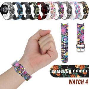 Silicone Band Strap For Samsung Galaxy Watch 4 44mm 40mm Sport Watch Strap