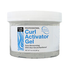 Curl Aid Curl Activator Gel For All Hair Styles w/ Aloe Vera & Panthenol 10.5oz