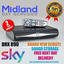 SKY PLUS + HD BOX - 500GB - SKY AMSTRAD DRX890 ON DEMAND BRAND NEW REMOTE