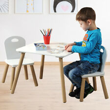 Kinder Sitz Gruppe Holz Möbel Set weiß Tisch Stühle Spiel Zimmer Malen Basteln
