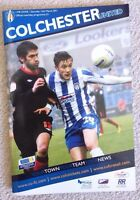 Colchester United V MK Dons, Football programme, League 1 match, 12/3/11