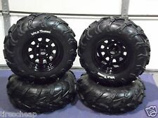 "SUZUKI VINSON 500 25"" WILD THANG ATV TIRE ITP BLACK ATV WHEEL KIT COMPLETE"