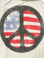 New with Tags Billabong Juniors Muscle Shirt USA Flag Peace Sign Size SMALL S XS