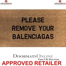 Balenciaga Stencilled Coir Door Mat 70 x 40 Please Remove Your Balenciagas