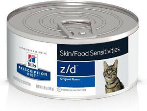 Hill's z/d Original Skin/Food Sensitivities Canned Cat Food 12/5.5 oz