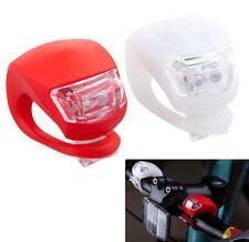 2 fanale posteriore per il ciclismo di sicurezza anteriore e posteriore in Silicone LED Luce Bicicletta Set