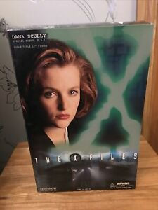 "SIDESHOW COLLECTIBLES THE X-FILES DANA SCULLY COLLECTIBLE 12"" FIGURE 2004 BOXED"