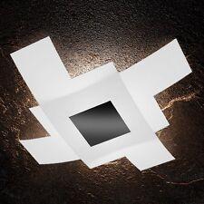 Plafoniera in vetro bianca e nera moderna a 4 luci tpl 1121/95-NE