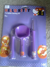 HELLO KITTY HALLOWEEN PUMPKIN CARVING KITwith 3 CHARACTER TOOLS 7 PATTERNS mint!