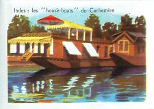 "IMAGE CARD 60s Indes India: ""House-boats""  Cachemire Kashmir"