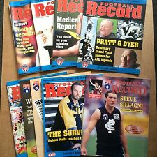 AFL Football Records x10 - 1995 1996 1997 - Carlton Collingwood North Melbourne